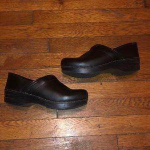 Dansko black leather professional clogs shoes 39